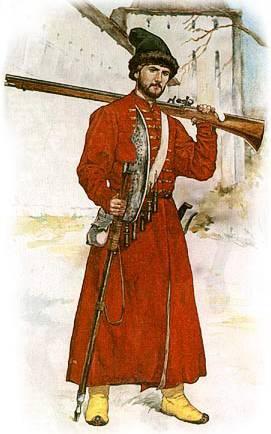 московский стрелец конец 17 века