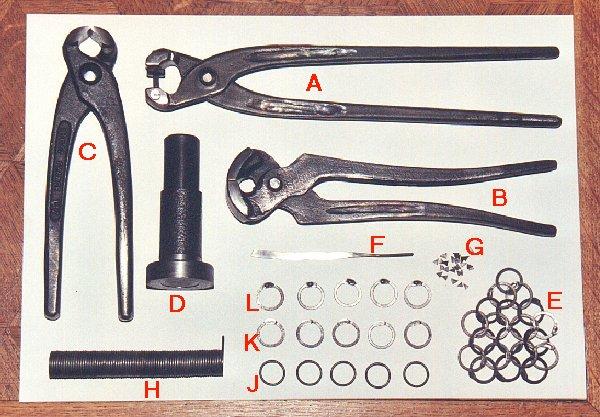 Иструменты для изготовления кольчуги