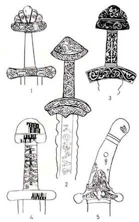 рукояти мечей и сабель