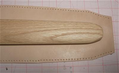 покрытие ножен кожей