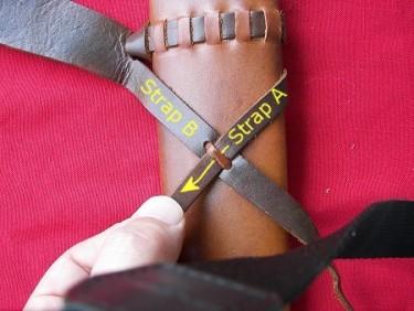 установка перевязи на ножны