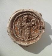 Вислая печать с архангелом