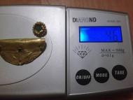 Золотая накладка на посудину