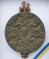 Бронзовая Панагия (змеевик и святой воин) Киевская Русь