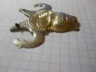 Накладка, серебро с позолотой. Лев, Анты