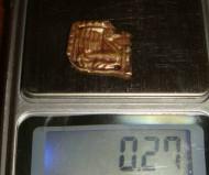 Скифская золотая пришивная бляшка