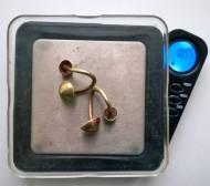 Золотые скифские серьги (?), вес-10,95 гр.