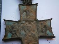 Энколпион  Распятие Христово - Святой Николай 15 век. Прямоконечный, латинского типа