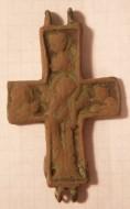 створка с Богородицей Агиосоритиссой от энколпиона 14-15вв.