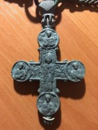 Энколпион на цепи, первая половина 13 века