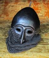 Шлем с полумаской IV типа по типологии А. Кирпичникова, реконструкция