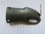 Скифский наконечник ножен акинака. 5-4 до н.э, в виде упрощенной головы сокола