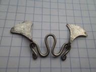 Два серебряных соединенных амулета топорика Черняховской к-ры