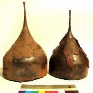 Шлемы, найденные при раскопках селища Игнатьевское