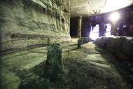 Остатки деревянных подпорных колонн. Артефакты не перемещались со своего изначального месторасположения