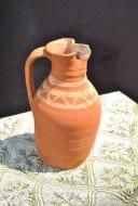 Греческий кувшин-ойнохойя, орнаментированный ангобом, VIII-IX вв.
