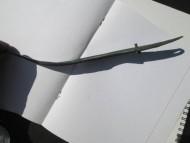 Заклепки на рукояти древнего бронзового ножа