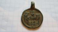 Древнерусская бронзовая иконка «Успение Богородицы»