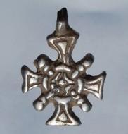 Редкий не описанный крестик сюжетом «крест в сиянии» 14-16 век