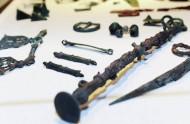 Биметаллическая (бронзово-железная) рукоять плети
