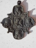Икона - квадрифолий. Богоматерь с избранными святыми