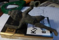 Древняя бронзовая статуэтка «Амур»