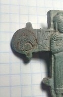 Створка энколпиона со святым князем Глебом