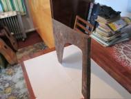 Центральноевропейский трубчатообушный рабочий топор 15-19 век, вес 3 кг.