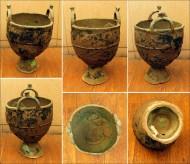 Древний бронзовый котелок