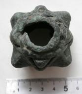 Булава бронзовая древнерусская,  со следами от ударов
