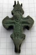 Редкий малый рельефный бронзовый энколпион
