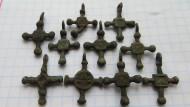 Бронзовые древнерусские крестики