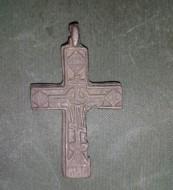 Нательный двусторонний крест 17 века