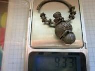 Серебряный колт волынського типа. Вес: 9.3 грамма