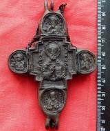Энколпион Святой Николай - Распятие, 15 век