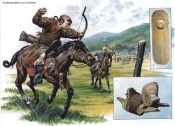 Молодой монгольский воин. Седло. Пайза