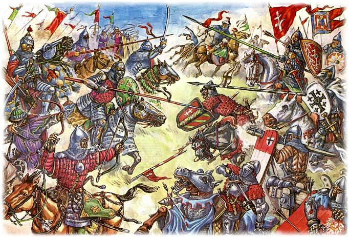 Рисунки великих битв