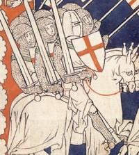 наколенник у рыцаря