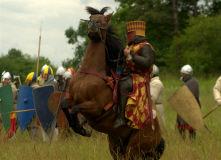 рыцарь на вставшем на дыбы коне