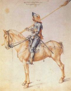 Альбрехт Дюрер: рисунок Рыцарь 1495 года