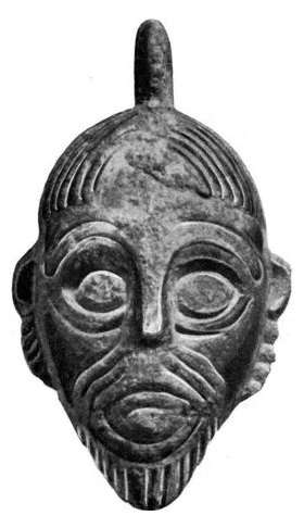 Head-shaped pendant from Vidarshof, Norway