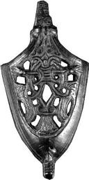 Sword scabbard chapes with bird motifs