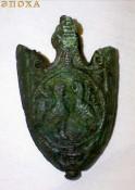 наконечник ножен с птицами