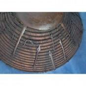 Монголо-татарский плетеный щит Калкан, вид на железные обручи и умбон
