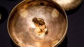 Серебряная с позолотой курильница, найденная в Запорожской области. XII век н. э. (в Чингульском кургане)