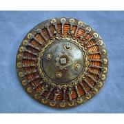 Османский, укрепленный железными деталями щит Калкан
