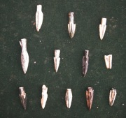 Скифские бронзовые литые наконечники стрел