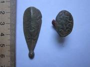 бронзовые накладки от поясной сумки