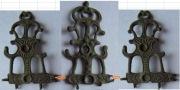Два звена Женского головного убора коруны 14-15 века