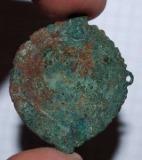 Фибула-брошь, 2 век н. э., провинциальный Рим. Медный сплав, литьё.